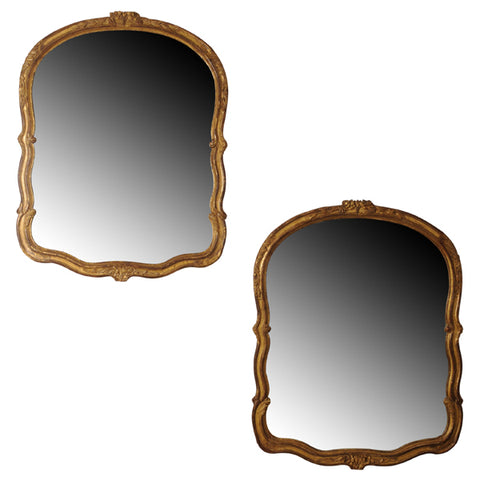 Pair giltwood mirrors.  French, late 19th century