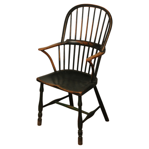 Stick back painted ash armchair, English, circa 1830