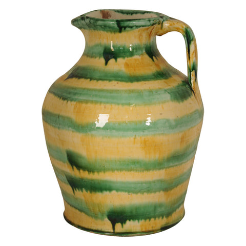 Large glazed ceramic jug, South of France, early 20th century