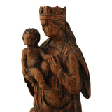 Small walnut carving of the Madonna and Child, France 16th century, Sculpture - Kate Thurlow | Gallery Forty One