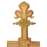 Giltwood and polychrome decorated processional cross, Spain, circa 1500, Sculpture - Kate Thurlow | Gallery Forty One