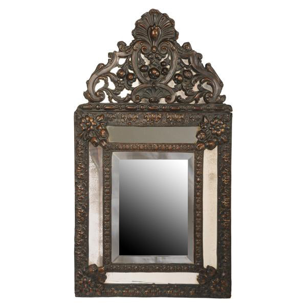 Small Louis XIV style mirror with brass decoration, Dutch early 19th century, Mirror - Kate Thurlow | Gallery Forty One