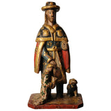 Sculpture of St Roch, Spanish circa 1800, Folk Art - Kate Thurlow | Gallery Forty One