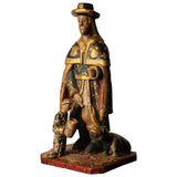 Sculpture of St Roch, Spanish circa 1800