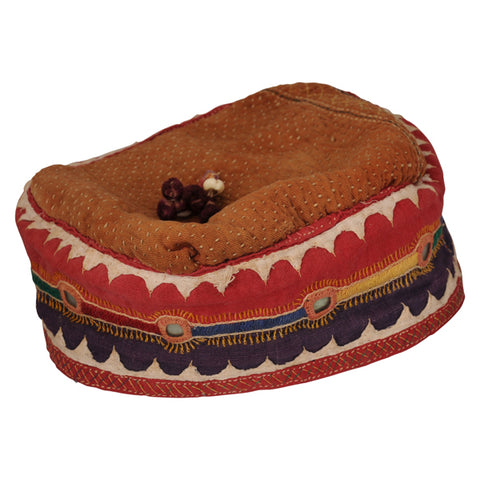Antique cloth and embroidery hat, Indian