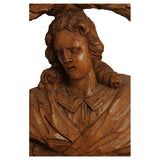 Limewood large scale portrait carving, South German, Ca 1780, Sculpture - Kate Thurlow | Gallery Forty One