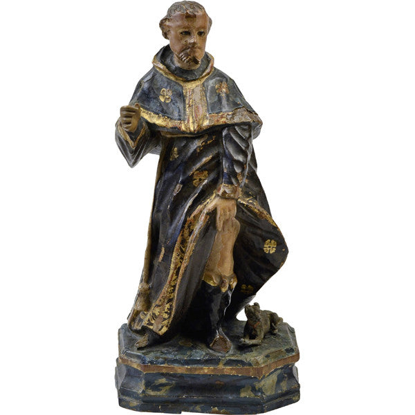 Walnut carving of St Roch, Spain, late 17th century, Sculpture - Kate Thurlow | Gallery Forty One