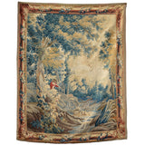 Aubusson tapestry with original borders, French circa 1760, Textiles - Kate Thurlow | Gallery Forty One