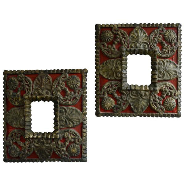 Pair painted carved frames, Spain, late 17th century, Mirror - Kate Thurlow | Gallery Forty One