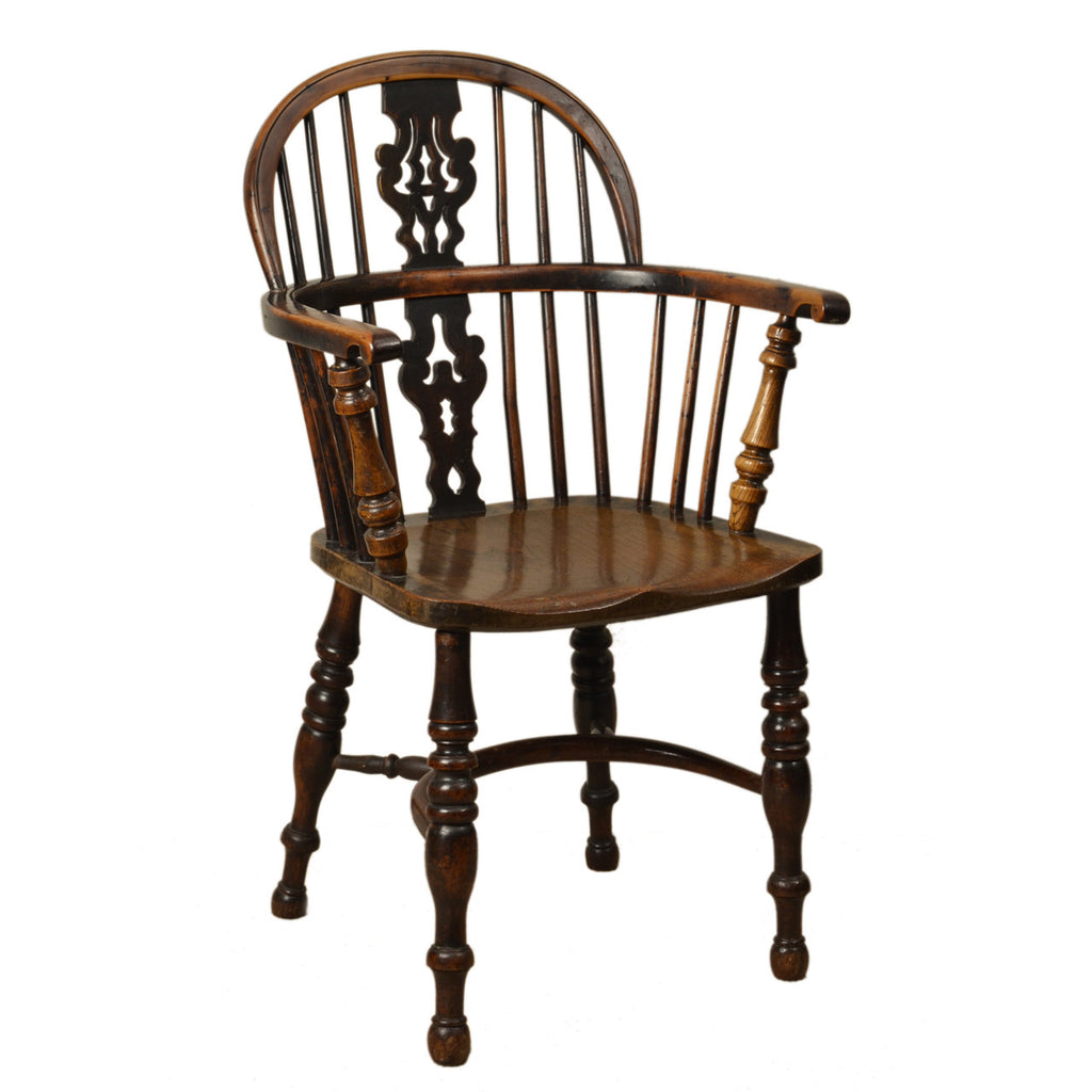 Yew wood and elm Windsor Armchair, English early 19th century, chair - Kate Thurlow | Gallery Forty One