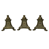 Four tall brass altar candlesticks, English circa 1910, lighting - Kate Thurlow | Gallery Forty One