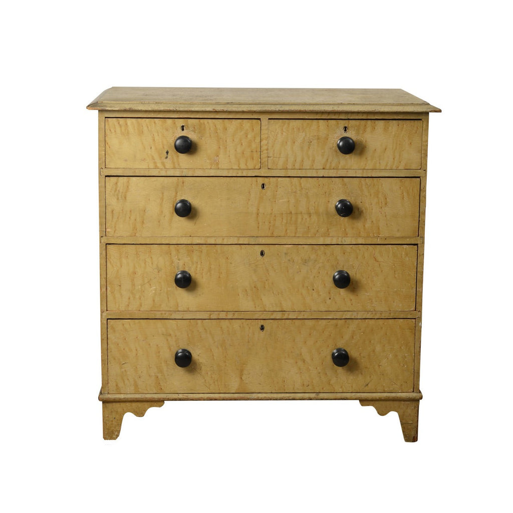 Painted faux maple Victorian chest of drawers, English circa 1880, Cabinet Furniture - Kate Thurlow | Gallery Forty One