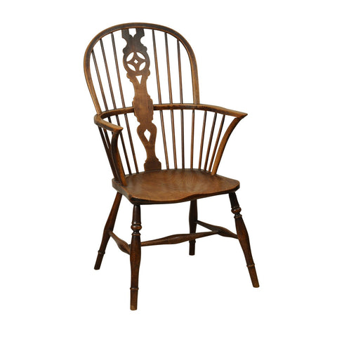 Elm and Ash Windsor Armchair, English early 19th century
