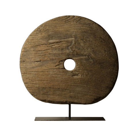 Teak wheel, Burmese 19th century