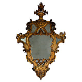 Pair of large giltwood mirrors, Louis XVI style, Italian late 19th century