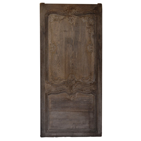 Oak fielded wall panel, French early 18th century