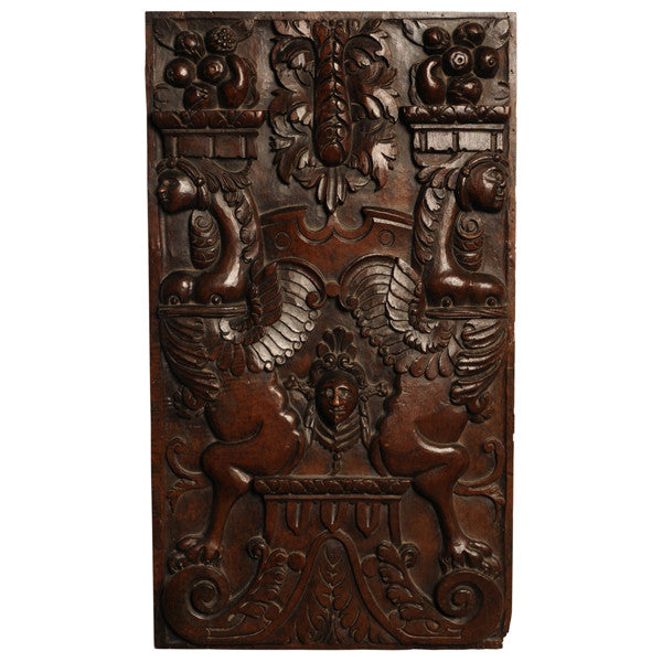 Walnut panel carved in high relief, Burgundy, France circa 1580, Sculpture - Kate Thurlow | Gallery Forty One