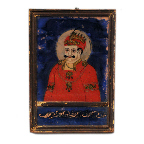 Indian reverse glass painting, circa 1860