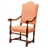 Walnut upholstered armchair. Italian, circa 1680, chair - Kate Thurlow | Gallery Forty One