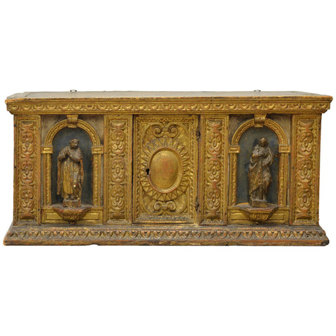 Late 16th Century Italian Giltwood Reliquary Box