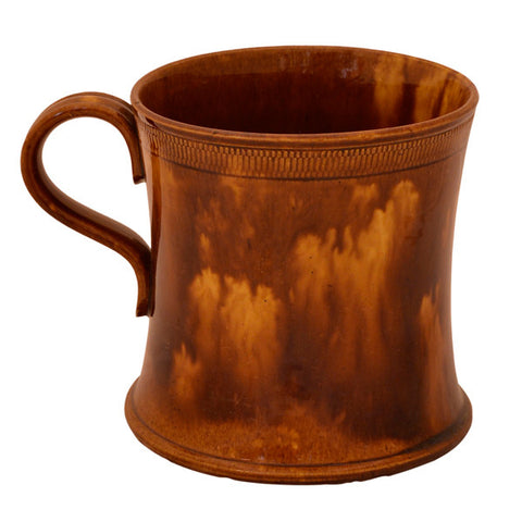 Rockingham Brown Glazed Ceramic Tankard, early 19th century