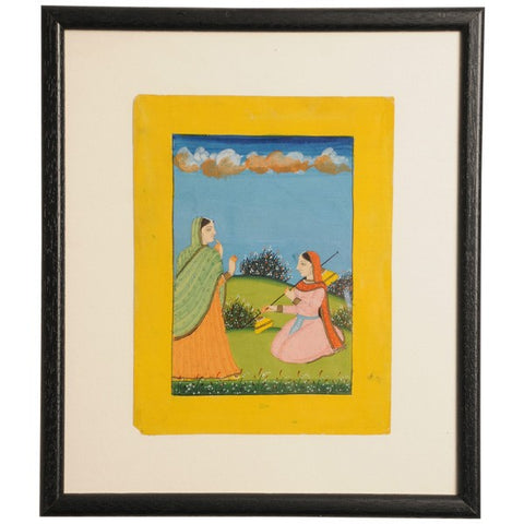 Three framed gouaches from a Ragamala Series, circa 1940