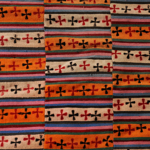 Tibetan blanket decorated with Nestorian crosses, mid 20th century