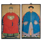 Two Ancestor Portraits, China, Qing Dynasty, late 19th century, Paintings, prints and photographs - Kate Thurlow | Gallery Forty One