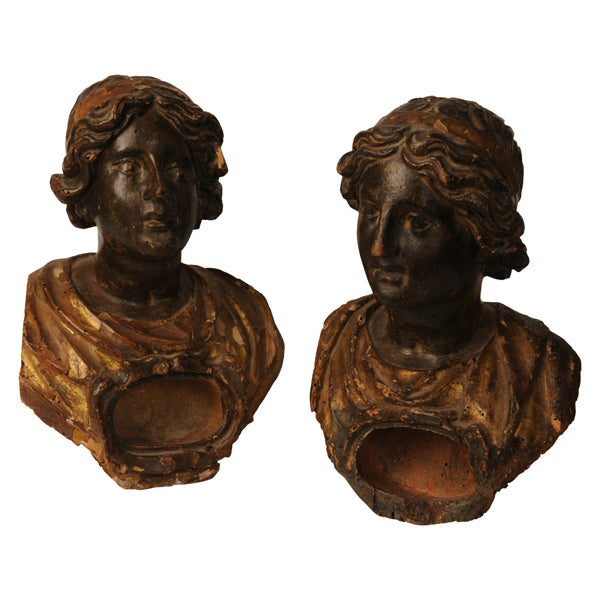 Two polychromed and gilded reliquary busts, Italy early 17th century, Sculpture - Kate Thurlow | Gallery Forty One
