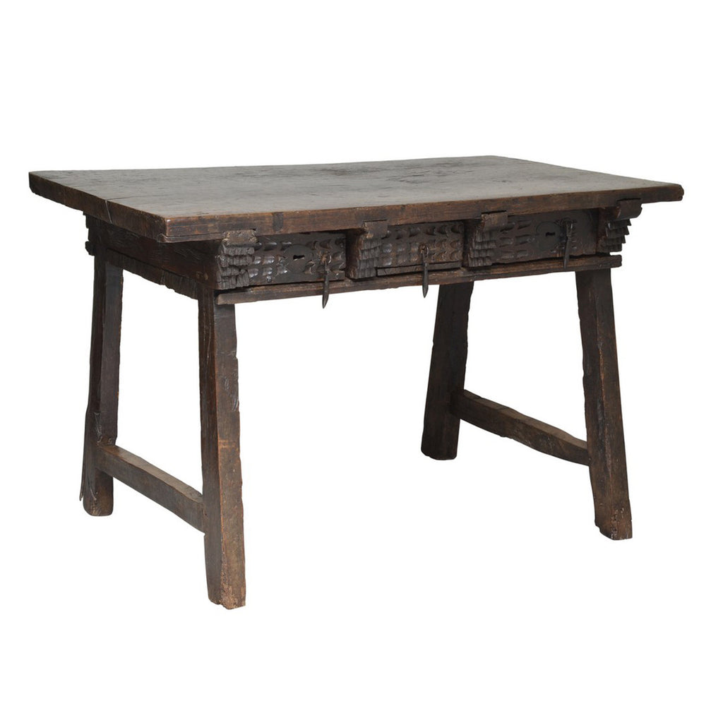 Oak table with single plank top, Spanish mid 17th century, Table - Kate Thurlow | Gallery Forty One