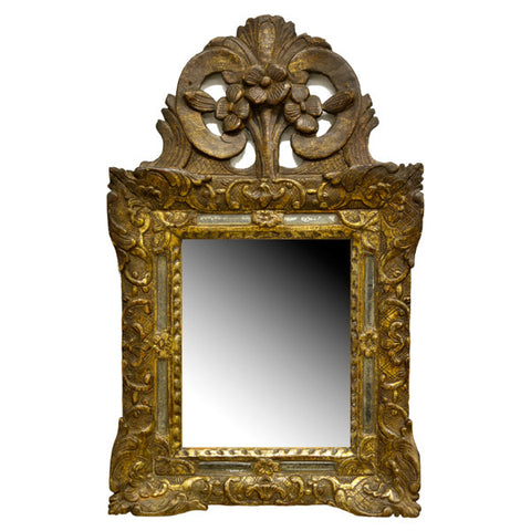 French margin mirror, late 17th century