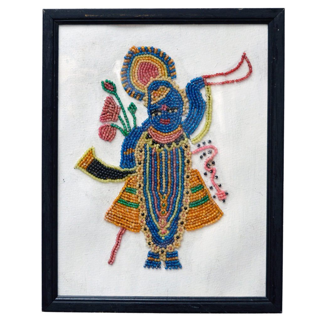 Beadwork picture of Shri Nath, Rajasthan, India, 20th century