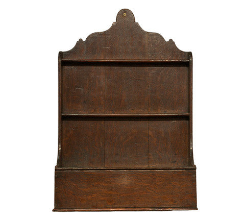 Oak spoon rack, English circa 1740