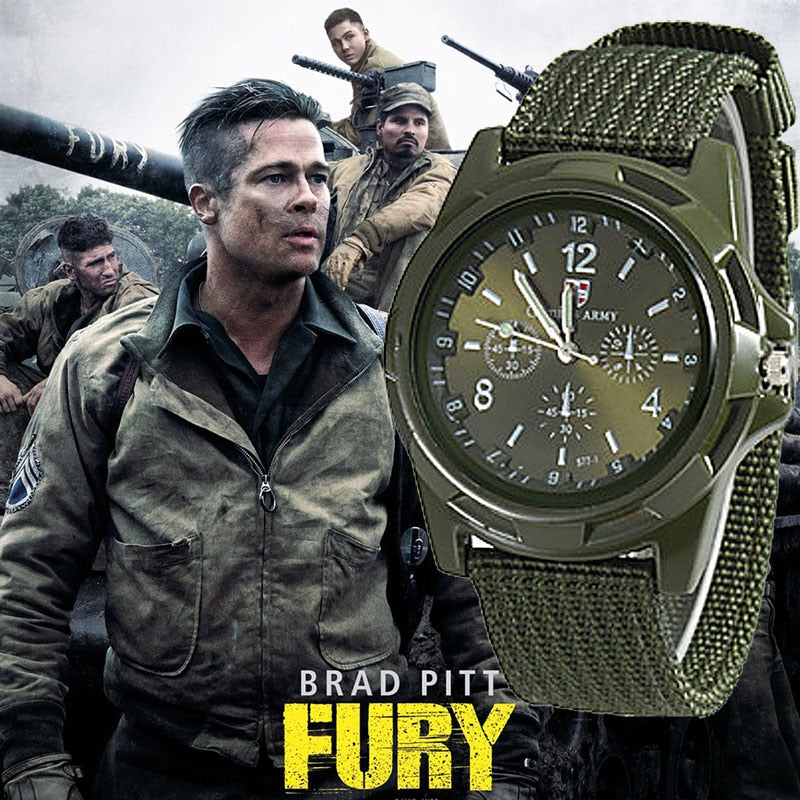 2018 Men Nylon band Military watch Gemius Army watch High Quality Quartz Movement Men sports watch Casual wristwatches