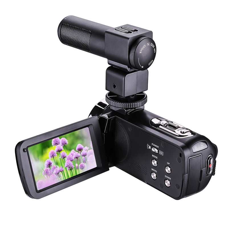 "HD Digital Camera with Mic Remote Control Digital Video Camcorder DV IR 16x Zoom  3.0"" TFT Screen Professional Webcam"