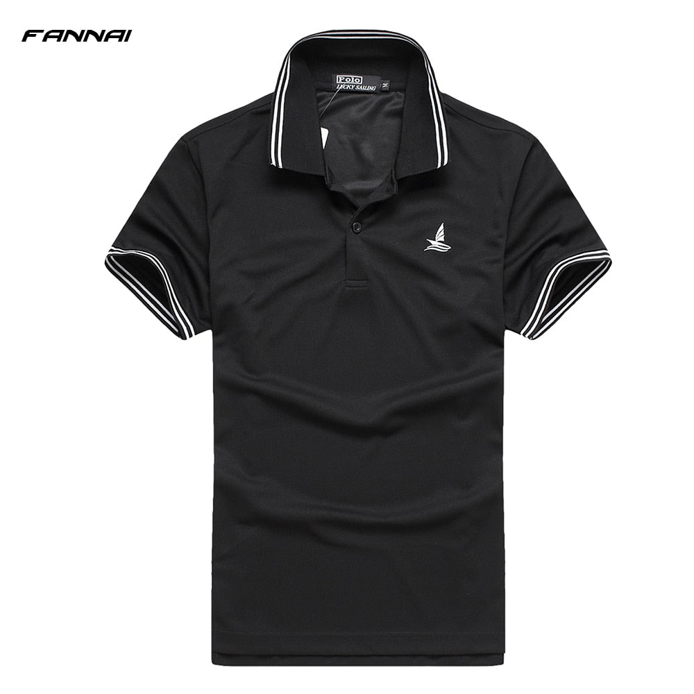 2018 New Professional men summer training garment sports shirts short sleeve Golf Running Fitness Soccer polo tops