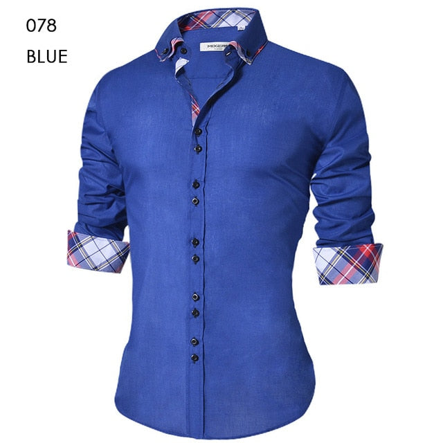 Men's Spring fashion dress shirts, Slim Fit, Button Down Long Sleeve