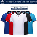 Adhemar breathable polo shirt for work fashionable Top clothes with collar for business and sports