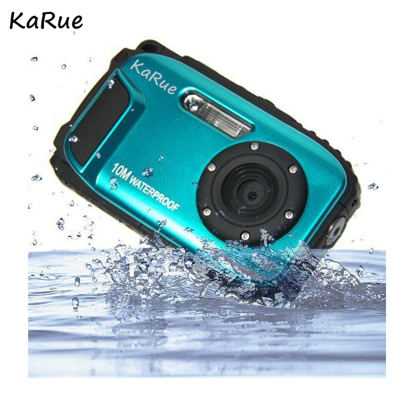 KaRue 2018 Digital Camera D188 Professional IP68 10 Meters Waterproof Diving Outdoor 16MP 2.7 inch Screen 8X Digital Zoom