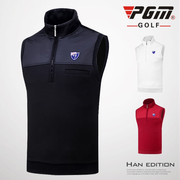 2018 Pgm Golf Sport Fleece Vest Men Winter Warm Golf Sleeveless Jacket Vest Men Windproof Waistcoat Golf Apparel D0513
