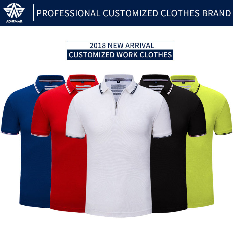 Adhemar men training exercise golf short sleeve sports polo shirts quick dry slim outdoor training tennis shirt women
