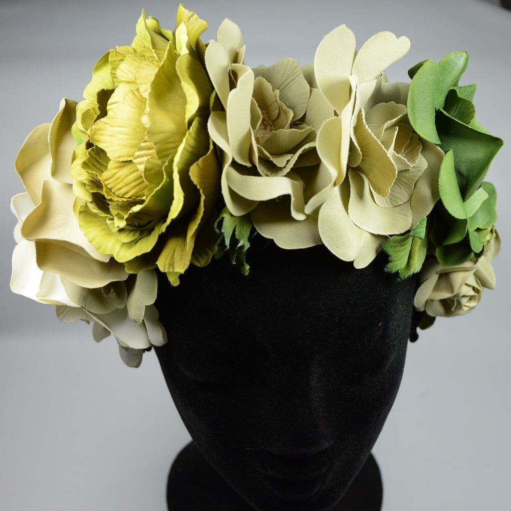 Flower headpiece, Green
