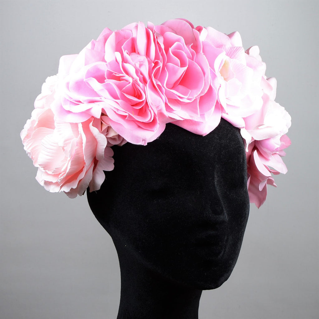 Flower headpiece, Pink
