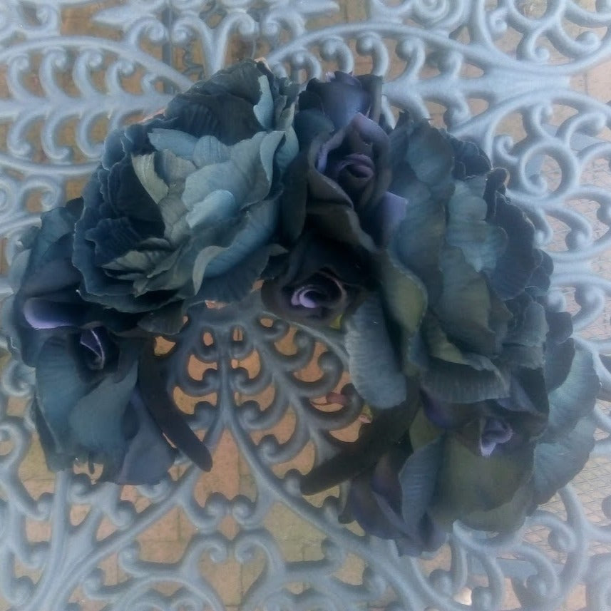 Flower headpiece, Black