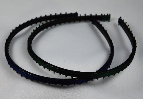 Plastic- and satin hair band / TikTak