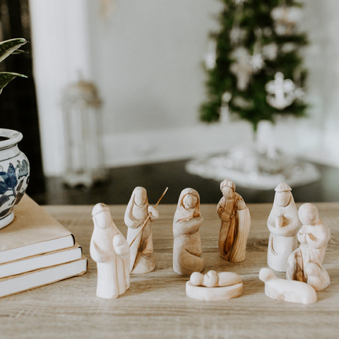 Authentic Olive Wood Nativity Scene