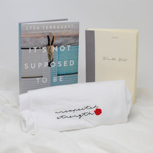 Unexpected Strength Embroidered Tee, Book and Journal Bundle