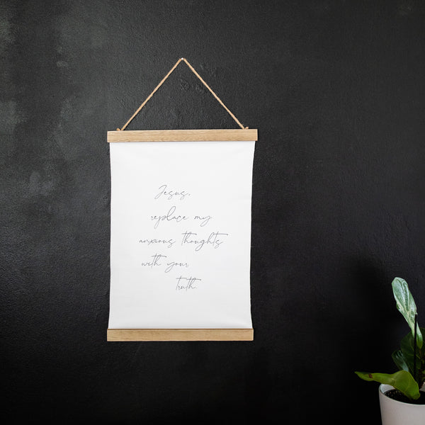 Replace My Anxious Thoughts Canvas Print