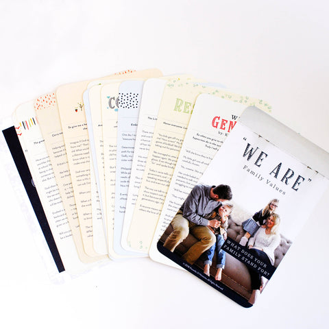 """We Are"" Family Value Cards"