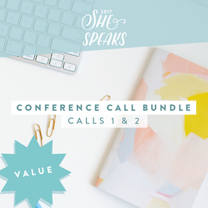 2017 She Speaks Pre-Conference Call Training Bundle